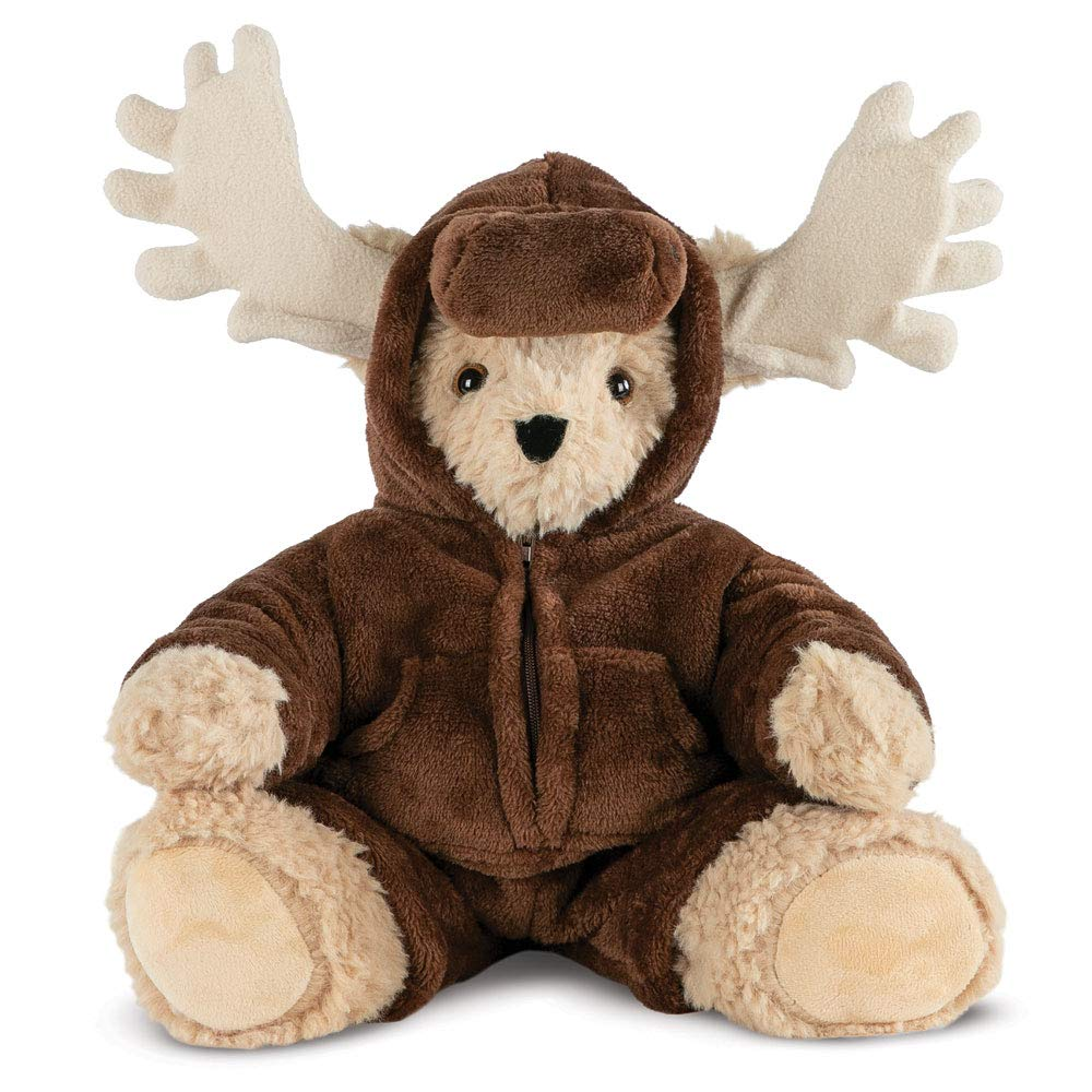 Vermont Teddy Bear - Super Soft Teddy Bear, Plush Bear in Fleece Moose Outfit, Brown, 15 inch by Vermont Teddy Bear