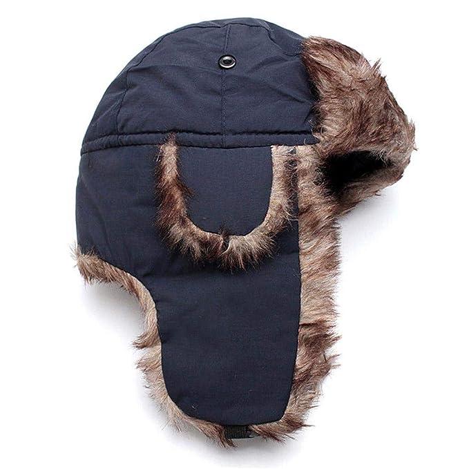 Uojack Cappello da Aviatore Solido Casuale Impermeabile Unisex Cappello  Caldo Invernale con paraorecchie Cappelli Aviatore  Amazon.it  Abbigliamento f4da0789e08e
