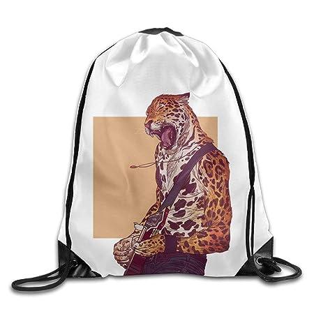 Goniesa Jaguar Anthro Character Drawstring Backpack Rucksack