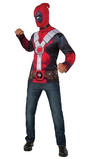 Disfraz oficial del superhéroe de Marvel Deadpool de Rubs para hombres