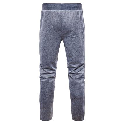 ZARLLE_Pantalones Casuales para Hombres 2018 Verano Nuevos Pies Pantalones Casual Fashion Cremalleras Laterales De Gran TamañO De Pantalones Deportivos ...