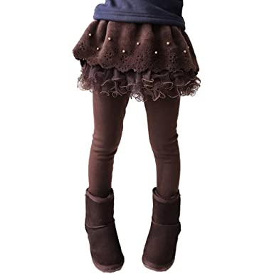 bb8731e46bbb Yying Girls Leggings Warm - Thick Thin Pants Autumn Winter Kids ...