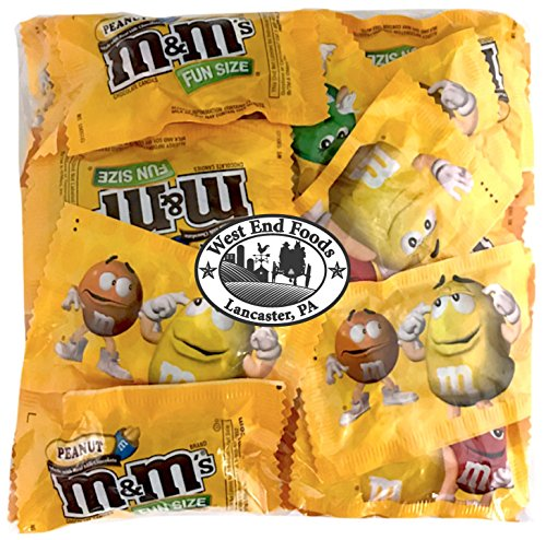 M&Ms Peanuts Milk Chocolate Candy Fun Size Bulk (1 pound Bag)]()