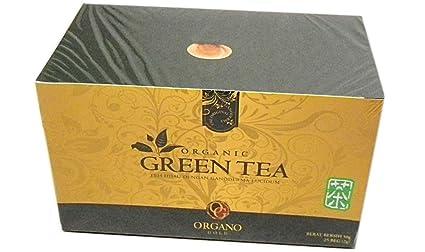 Organo Gold - Té verde gourmet con Ganoderma (2 cajas con 25 bolsitas)