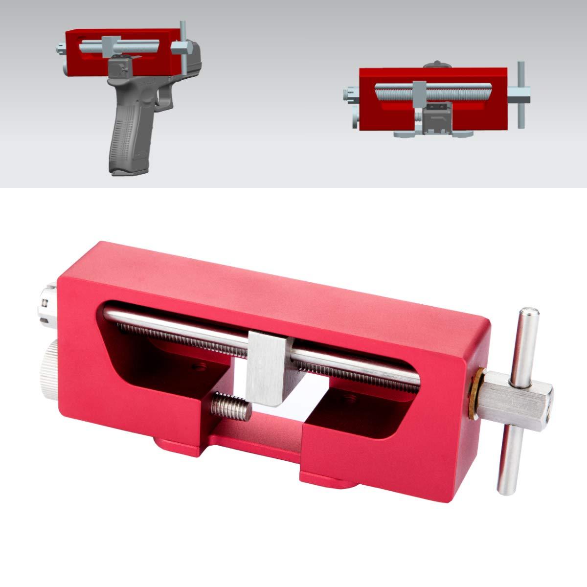 TuFok Pistol Sight Pusher Tool - Universal Pistol Dovetailed Rear Sight Romover by TuFok