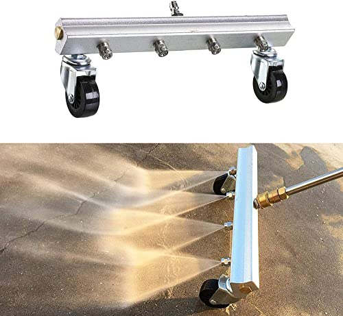 Lesgos Undercarriage Cleaner,Pressure Washer Water Broom,Power Under Car Water Broom,13 Inches,4000 PSI,for Pressure Washers, Water Broom with 4 SS Nozzle to Clean Driveway,Sidewalk,Deck