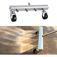 Moshbu Pressure Washer Undercarriage Cleaner, 13in Under Car Water Broom with Extension Wands Hand Push Mobile Cleaning Machine Accessories Sweep Driveway Sidewalk for Deck 4000 PSI