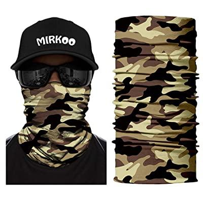 MIRKOO Camo Tube Face Mask, Breathable Seamless Dust-proof Windproof UV Sun Protection Motorcycle Bicycle ATV Outdoor Face Mask for Motorcycling Cycling Hiking Climbing Fishing Men Women Teenager(743): Automotive