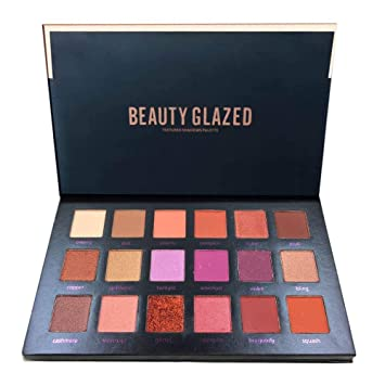 Eye Shadow Beauty Glazed 18 Color Eyeshadow Palette Glamorous Smokey Eye Shadow Shimmer Makeup Kit Makeup Palette Shimme Professional Long