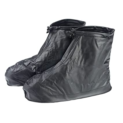 Reusable Transparent L Waterproof Slip-Resistant Thicken Sole Reusable Zippered Shoes Boots Cover for Men Boy