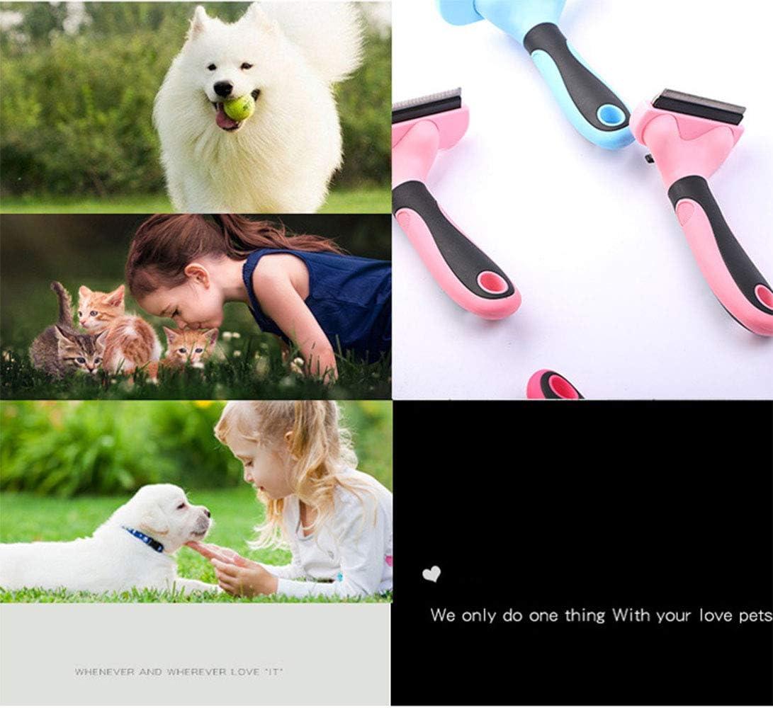 medianos y Grandes para el Cabello Corto y Largo Perros y Gatos peque/ños Bluedream Cepillo de Aseo para Mascotas