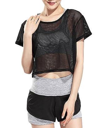 COMVIP Mujeres Entrenamiento Fitness Deportivo sujetador Camisa 3 conjuntos de piezas Asia M: Camisa Longitud: 47 cm, busto: 114cm Gris: Amazon.es: Ropa y ...
