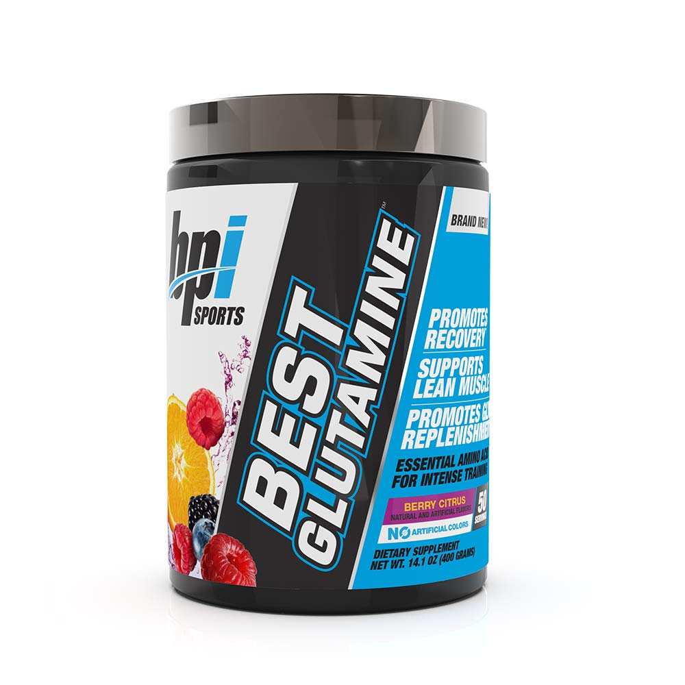 Best Glutamine Essential Amino Acid For Intense Training, Berry Citrus, 14.1 Ounce by BPI Sports