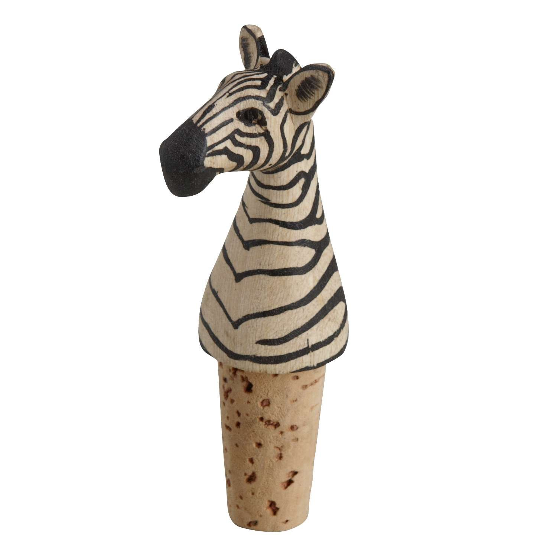 Fun Animal Wine Bottle Stopper 'Bottle Topper Zebra'