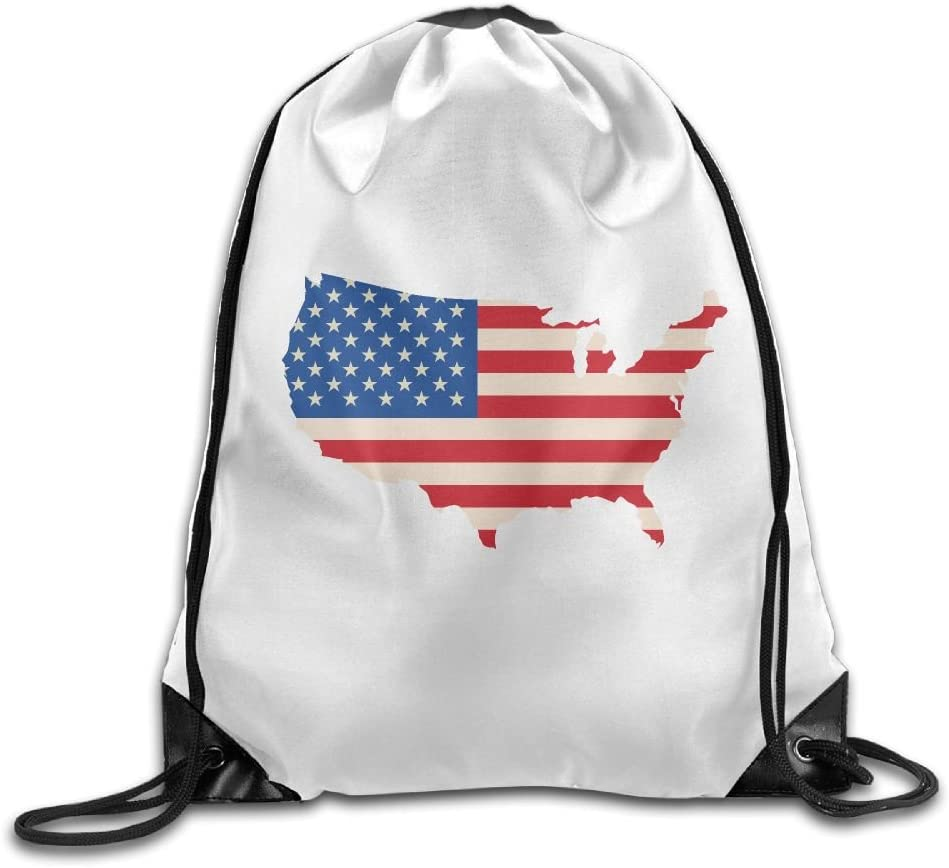 Stars And Stripes Drawstring Backpack Rucksack Shoulder Bags Training Gym Sack For Man And Women
