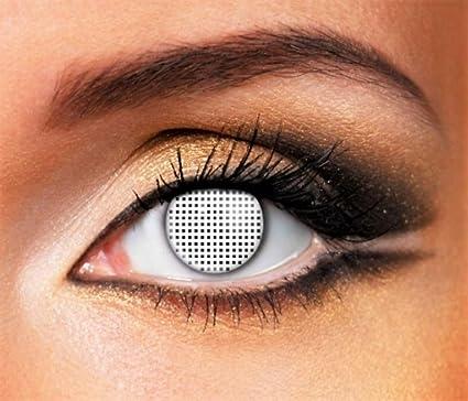 Phantasy Eyes ®Lentilles de Contact de couleur - Halloween Crazy Lens  (WHITE MESH) afbc63b463bb