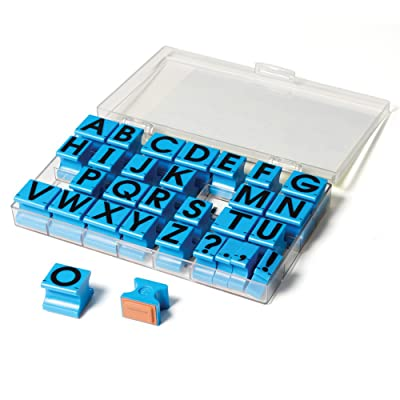 "Educational Insights Alphabet Rubber Stamps Uppercase, 5/8"", Ages 4 and Up, (30 Pieces - 26 Letters and 4 Punctuation Marks): Toys & Games"