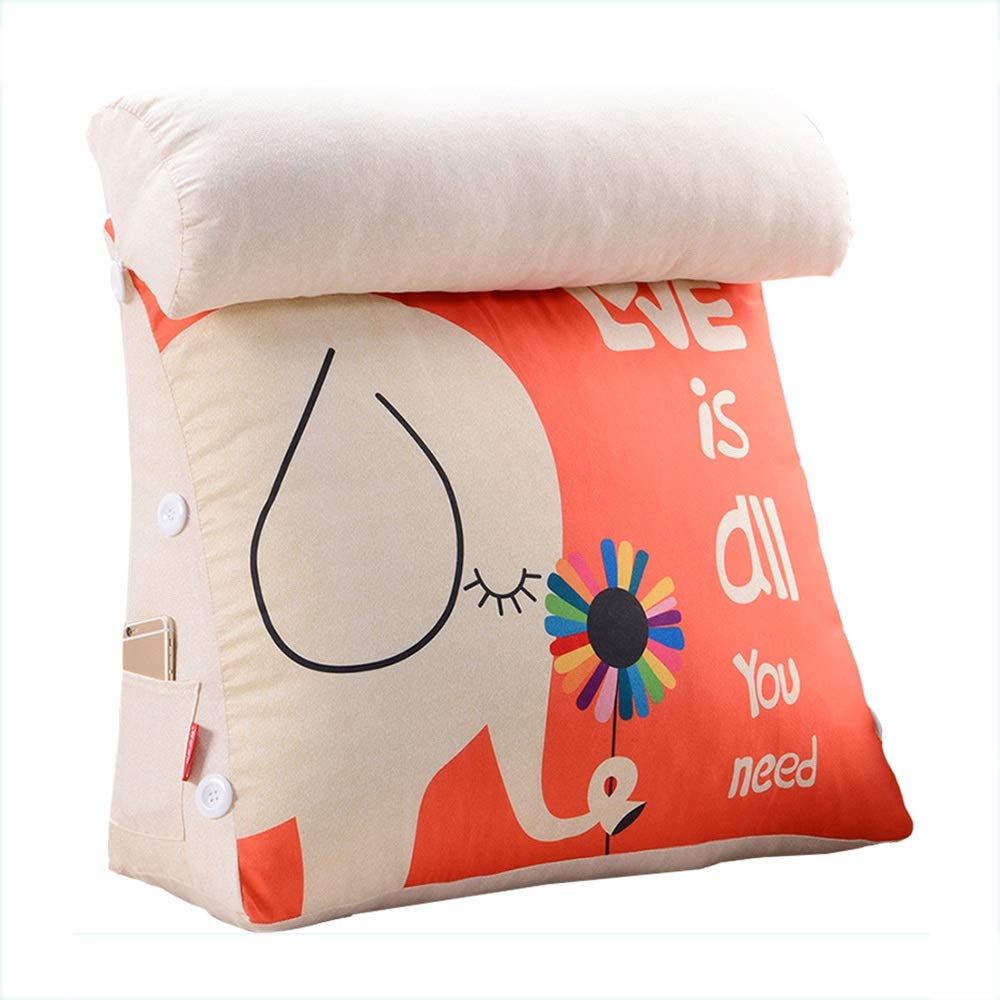 Lumbar Pillow Cailin, Triangle Cushion, Bed Headrest, Office Waist Pad, Sofa Back, Removable and Washable (Design : Comfortable, Size : 452045cm)