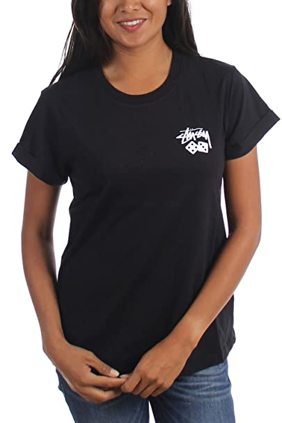 Stussy - T-shirt - Donna Black X-S  Amazon.it  Abbigliamento 06a1f55a82a