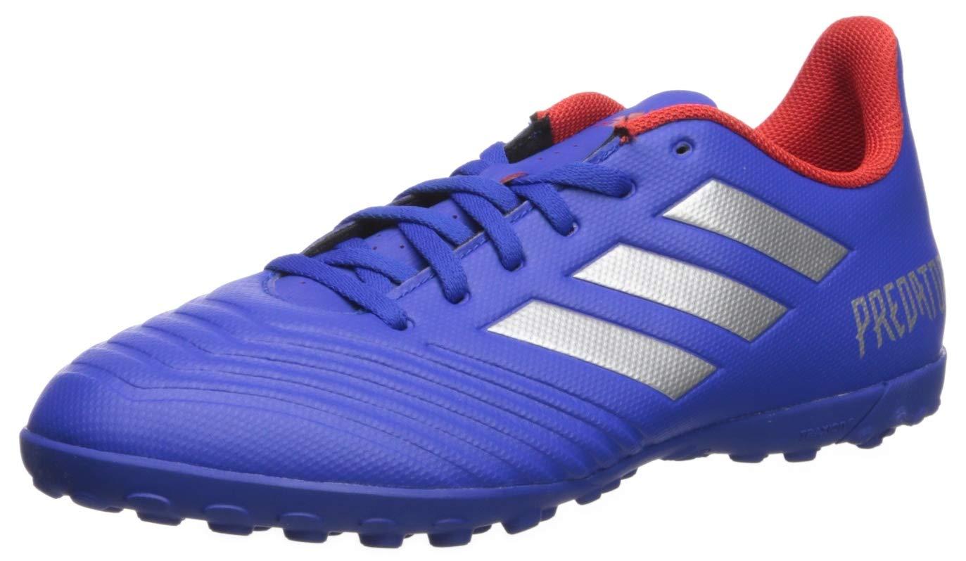 adidas Men's Predator 19.4 Turf, Bold Blue/Silver Metallic/Active red 6.5 M US