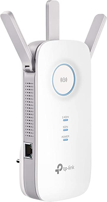 Oferta amazon: TP-Link RE450 Extensor de Rango de Repetidor WiFi de Banda Dual Universal, 3 Antenas Externas, Puerto Gigabit Ethernet, AC1750, Modo AP Compatible