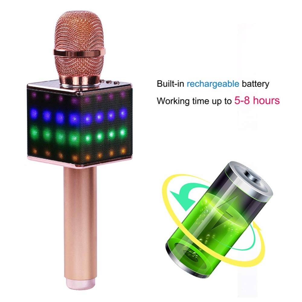 Wireless Karaoke Microphones Speaker, 4 In 1 Handheld Portable Bluetooth Home KTV Player, Superior Audio Quality For Singing & Recording, Compatible With Android & IOS Wireless Bluetooth Karaoke Micro by Xiuzhifuxie (Image #3)