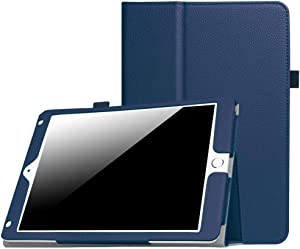 New iPad 9.7 Inch 2018/2017 / iPad Air 2 / iPad Air Case - [Corner Protection] Premium PU Leather Folio Smart Cover w/Auto Sleep/Wake for iPad 9.7 in 2017 Release, iPad Air 1 2(Navy)