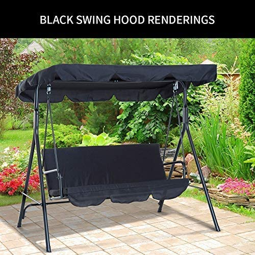 Cover Patio Hammock Cover Top Garden Outdoor 142 * 120 * 18cm, Grey Enmayode Universal Coloured Replacement Canopy for Swing Seat Chair