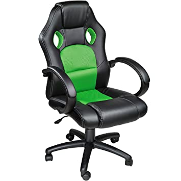 TecTake Silla de escritorio de oficina, Racing - disponible en diferentes colores (Verde): Amazon.es: Hogar