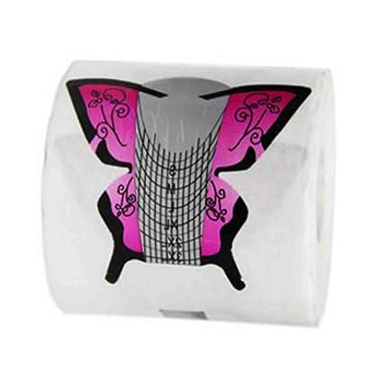 TNBL - Juego de 50 uñas postizas autoadhesivas para uñas de gel Stiletto