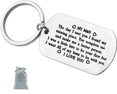 Amazon.com: Llavero de regalo para mi hombre, regalo de ...
