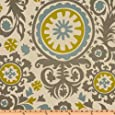 Premier Prints Suzani Summerland/Natural Fabric By The Yard