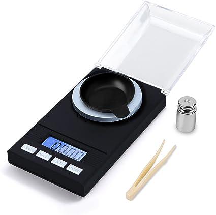 bilancia per gioielli tascabile con calibrazione display digitale a LED ad alta precisione pinzette e piatti di pesata. Bilancia digitale Milligram per gioielli 0,001 g