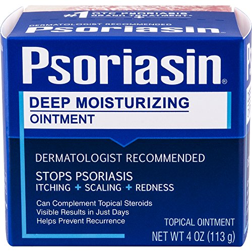 Psoriasin—Deep Moisturizing Ointment—4 oz Jar—Helps to Relieve Itching, Flaking, Redness, Scaling and Discomfort Associated with - Coal Tar Ointment