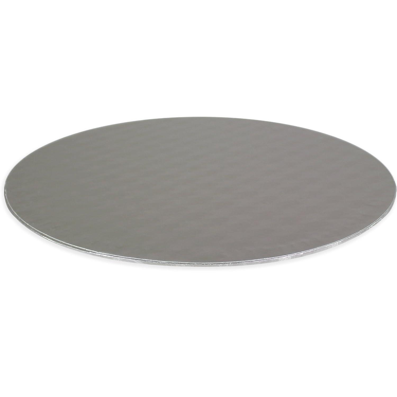 PME BCR867 Round Card//Board Square Cake Box 10in Set Standard White