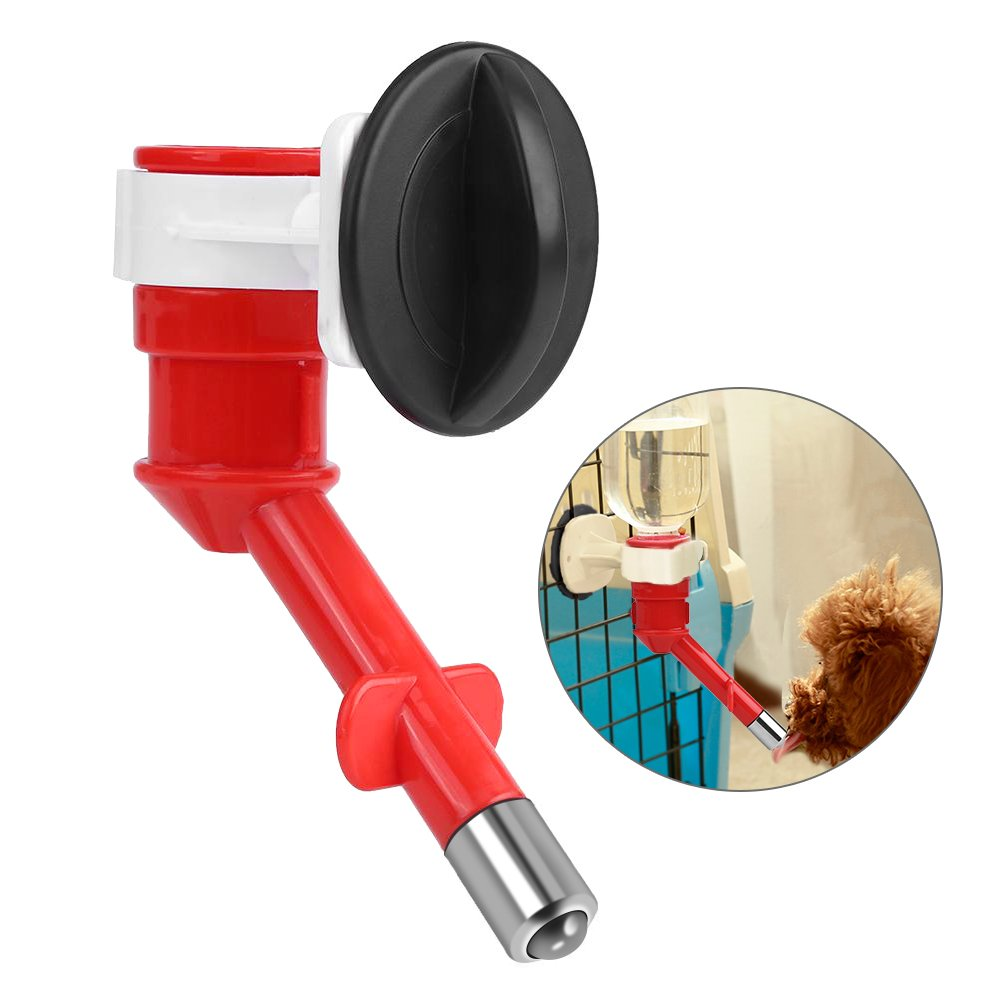 Pet Water Dispenser, Hanging Automatic Dog Puppy Cat Water Drinking Feeders Leak Proof Replenish Pet Waterer(Blue) GLOGLOW