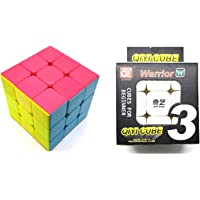 QiYi Warrior [W] 3x3 Stickerless Rubik's Cube Speed Cube Magic Cube - Super Smooth Cube