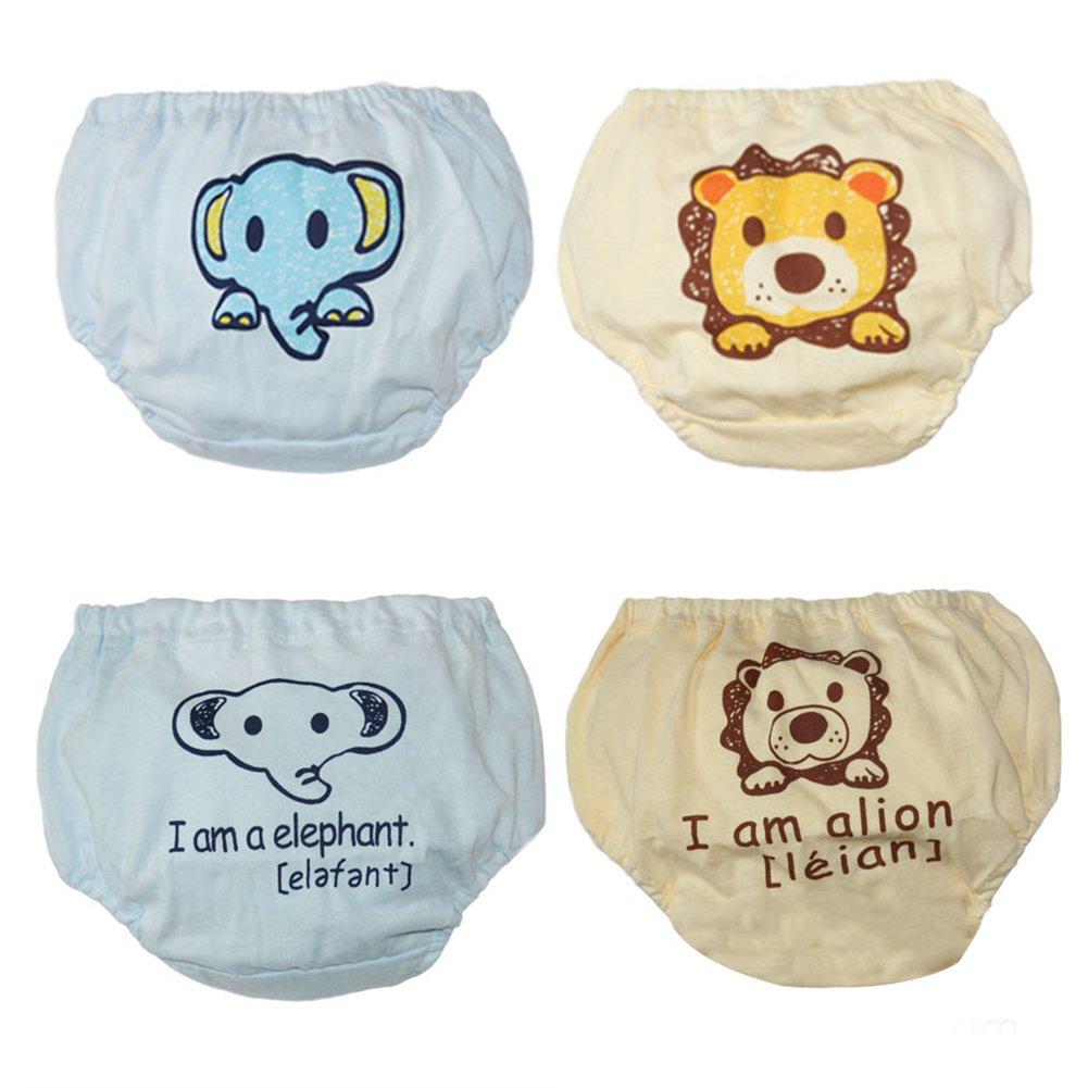 LOSORN ZPY Baby Unterwäsche Unterhosen Training Pants Trainerhosen Töpfchentraining 4 Stücken