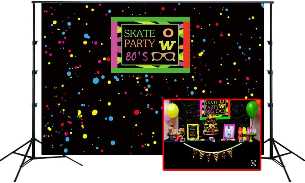 Aosto Photography Backdrop Birthday Party Child Photo Background 80s Party Decor Banner Photo Booth Backdrops W-2306