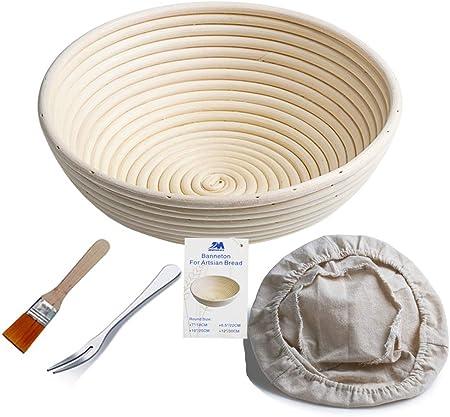 & # x2605; artesanos Pan: Nuestros banneton Proof cesta de ratán natural, trabajo a través de la edu
