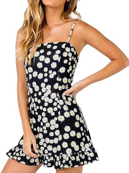 UK Womens Summer Frill Short Sleeve Backless Mini Dress Ladies Short Tunic Dress