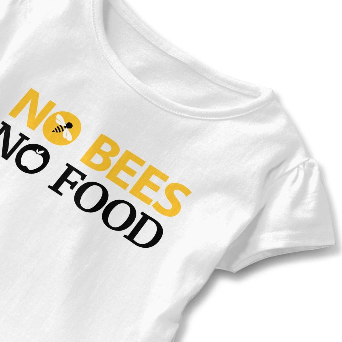 JVNSS Save The Bees T-Shirt Toddler//Infant Flounced T Shirts Fashion Cotton Tops for 2-6T Kids Girls