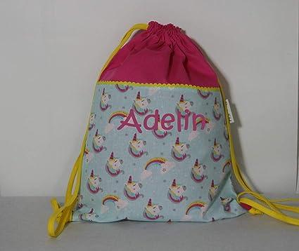 Bolsa personalizada mochila bordado x nombre unicornios 30 con el rZrRApqw