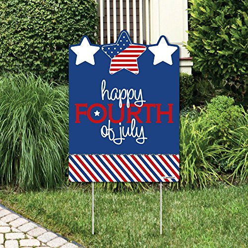 (4th of July - Independence Day Party Decorations - Happy Fourth of July Yard)