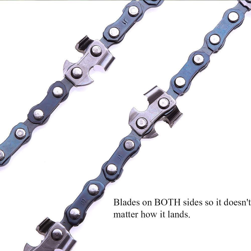 40 Z/ähne S/ägebl/ätter auf beiden Seiten Handkette FZAY Seils/äge Karbonstahl Hands/äge zum S/ägen von /Ästen und kleinen B/äumen 122 cm hohe Reichweite