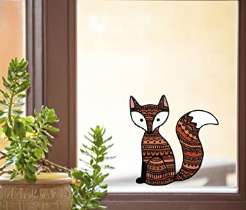 amazon com patterned fox see through vinyl window decal