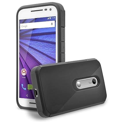 online store 881ad 9e230 Moto G3 Case,Ziaon (TM) Motorola Moto G3 / Moto G Turbo Edition Case Luxury  Tuff Super Armor Hybrid Dual Layer Shockproof Dual Layer Protective Cover  ...