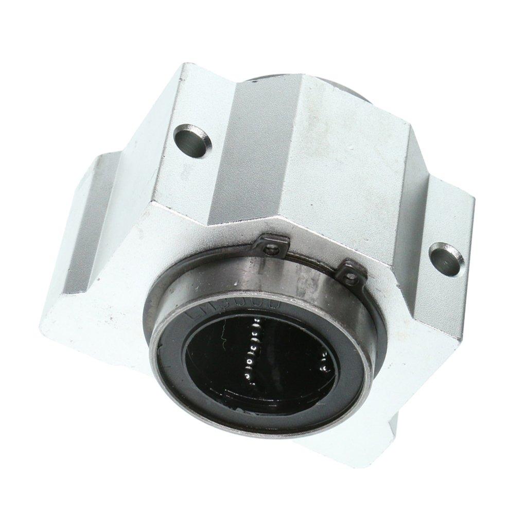 Homyl 4 Pieces SCV30UU 30mm 3D Printer Linear Ball Bearing Support Unit Pillow Blocks