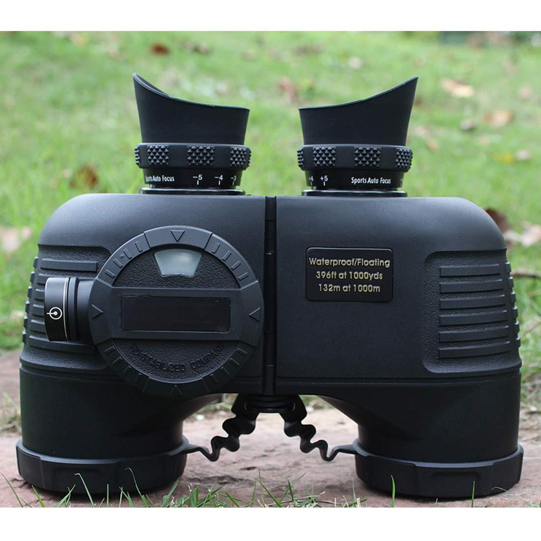 JPAKIOS 望遠鏡 7x50双眼鏡 アウトドア 旅行 コンサート用 相撲観戦 歌舞伎鑑賞 狩猟 収納バッグ付き BAK4プリズムFMCレンズ コンパス 羅針盤 (Color : ブラック) B07PLTYT12 ブラック