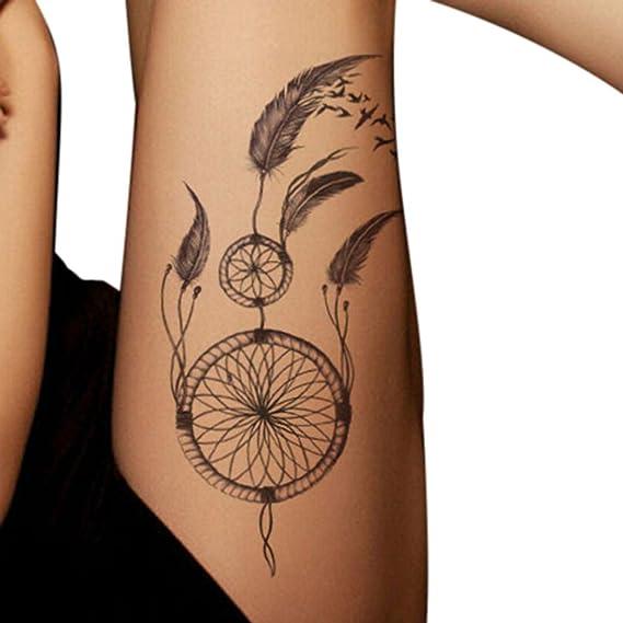 Tattoo de etiqueta de piel de Impermeable Body Art atrapasueños ...
